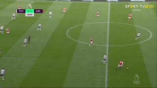 GOLO! Tottenham, Heung-Min Son aos 19', Tottenham 1-1 Arsenal