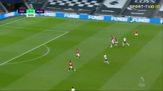 GOLO! Tottenham, S. Bergwijn aos 27', Tottenham 1-0 Man. United