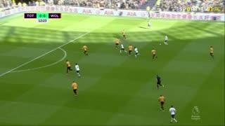 GOLO! Tottenham, S. Bergwijn aos 13', Tottenham 1-0 Wolverhampton