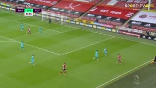GOLO! Sheffield United, O. McBurnie aos 84', Sheffield United 3-0 Tottenham