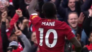 GOLO! Liverpool, S. Mané aos 33', Liverpool 2-1 Bournemouth