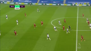 GOLO! Liverpool, J. Henderson aos 8', Brighton 0-2 Liverpool