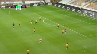 GOLO! Arsenal, B. Saka aos 43', Wolverhampton 0-1 Arsenal