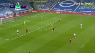GOLO! Liverpool, Mohamed Salah aos 6', Brighton 0-1 Liverpool