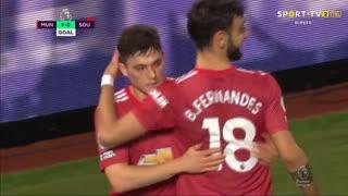 GOLO! Man. United, D. James aos 90'+3', Man. United 9-0 Southampton