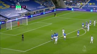 GOLO! Chelsea, Jorginho aos 23', Brighton 0-1 Chelsea