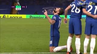GOLO! Chelsea, O. Giroud aos 34', Chelsea 1-0 Aston Villa