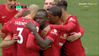 GOLO! Liverpool, S. Mané aos 74', Liverpool 2-0 Crystal Palace