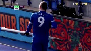 GOLO! Leicester City, J. Vardy aos 81', Leicester City 2-1 Liverpool
