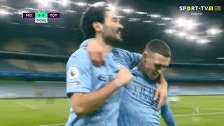 GOLO! Man. City, I. Gündogan aos 66', Man. City 3-0 Tottenham