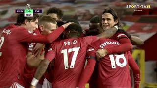 GOLO! Man. United, Bruno Fernandes aos 45', Man. United 2-0 Everton