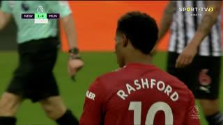GOLO! Man. United, M. Rashford aos 90'+6', Newcastle 1-4 Man. United