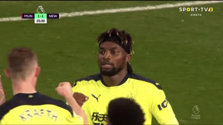 GOLO! Newcastle, A. Saint-Maximin aos 36', Man. United 1-1 Newcastle