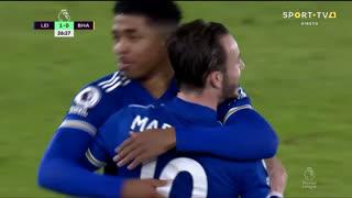 GOLO! Leicester City, J. Maddison aos 27', Leicester City 1-0 Brighton