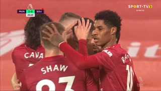 GOLO! Man. United, M. Rashford aos 25', Man. United 2-0 Southampton