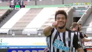 GOLO! Newcastle, Joelinton aos 28', Newcastle 1-0 Tottenham