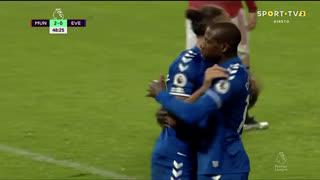 GOLO! Everton, A. Doucouré aos 49', Man. United 2-1 Everton