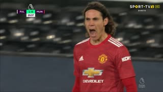 GOLO! Man. United, E. Cavani aos 21', Fulham 1-1 Man. United