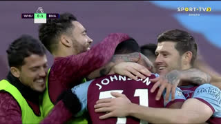 GOLO! West Ham, B. Johnson aos 60', West Ham 1-1 Brighton