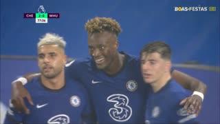 GOLO! Chelsea, T. Abraham aos 78', Chelsea 2-0 West Ham