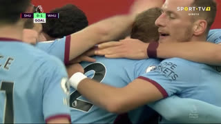 GOLO! West Ham, S. Haller aos 56', Sheffield United 0-1 West Ham