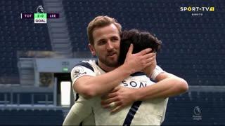 GOLO! Tottenham, Heung-Min Son aos 43', Tottenham 2-0 Leeds United