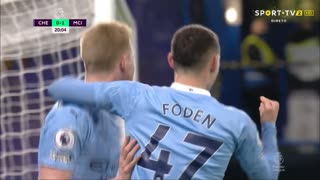 GOLO! Man. City, P. Foden aos 21', Chelsea 0-2 Man. City