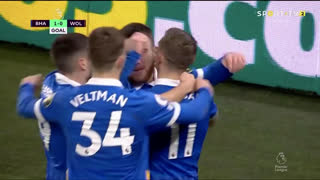 GOLO! Brighton, A. Connolly aos 13', Brighton 1-0 Wolverhampton