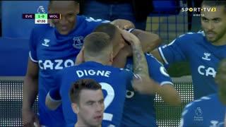 GOLO! Everton, Richarlison aos 48', Everton 1-0 Wolverhampton