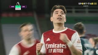 GOLO! Arsenal, Bellerín aos 45', Arsenal 3-0 Leeds United
