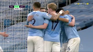 GOLO! Man. City, I. Gündogan aos 45'+3', Man. City 3-1 Southampton