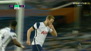 GOLO! Tottenham, H. Kane aos 27', Everton 0-1 Tottenham