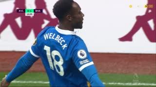 GOLO! Brighton, D. Welbeck aos 12', Aston Villa 0-1 Brighton