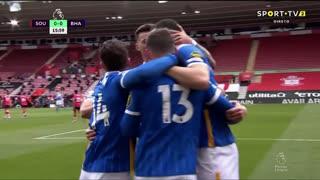 GOLO! Brighton, L. Dunk aos 16', Southampton 0-1 Brighton