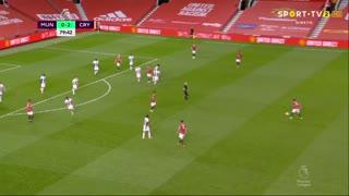GOLO! Man. United, D. van de Beek aos 80', Man. United 1-2 Crystal Palace