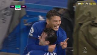 GOLO! Chelsea, Thiago Silva aos 77', Chelsea 3-1 Sheffield United