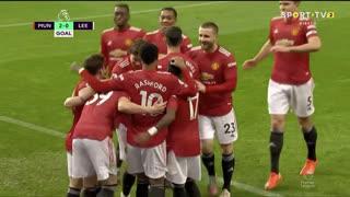 GOLO! Man. United, S. McTominay aos 3', Man. United 2-0 Leeds United