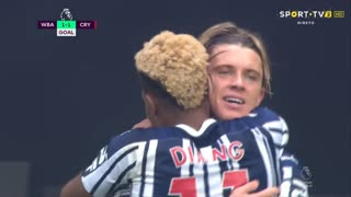 GOLO! West Bromwich Albion, C. Gallagher aos 30', West Bromwich Albion 1-1 Crystal Palace