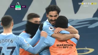 GOLO! Man. City, I. Gündogan aos 50', Man. City 2-0 Tottenham