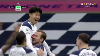 GOLO! Tottenham, Heung-Min Son aos 1', Tottenham 1-0 West Ham