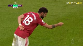 GOLO! Man. United, Bruno Fernandes aos 79', Leicester City 1-2 Man. United
