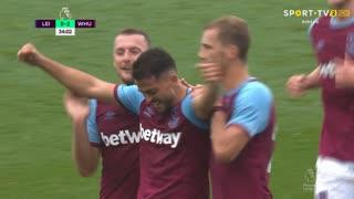 GOLO! West Ham, Pablo Fornals aos 34', Leicester City 0-2 West Ham