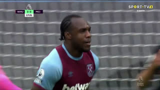 GOLO! West Ham, M. Antonio aos 18', West Ham 1-0 Man. City