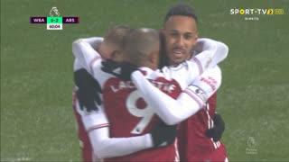 GOLO! Arsenal, A. Lacazette aos 60', West Bromwich Albion 0-3 Arsenal