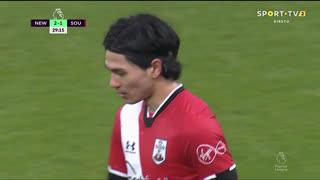 GOLO! Southampton, J. Ward-Prowse aos 30', Newcastle 2-1 Southampton