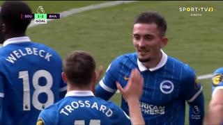 GOLO! Brighton, L. Trossard aos 56', Southampton 1-2 Brighton