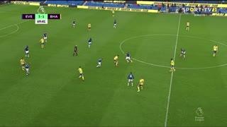 GOLO! Everton, James Rodríguez aos 70', Everton 4-1 Brighton