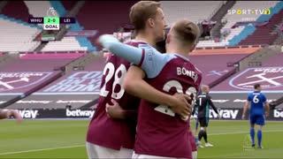 GOLO! West Ham, J. Lingard aos 44', West Ham 2-0 Leicester City