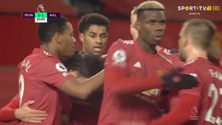GOLO! Man. United, Bruno Fernandes aos 61', Man. United 2-1 Aston Villa