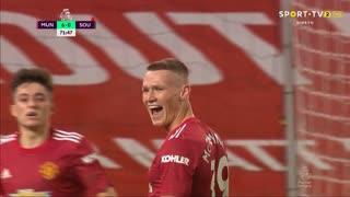 GOLO! Man. United, S. McTominay aos 71', Man. United 6-0 Southampton